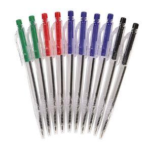 Retractable Ballpoint Pens Mixed Assortment 10 Pack