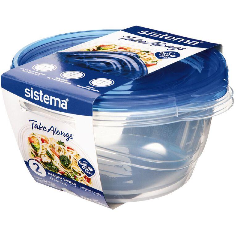 Sistema Take Alongs Medium Bowl 1.4L 2 Pack, , hi-res
