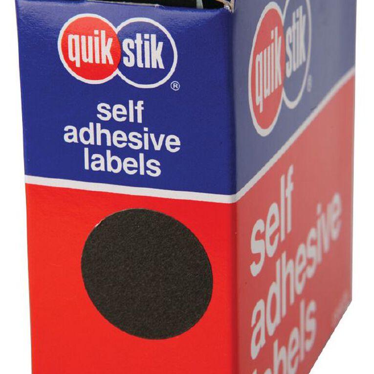 Quik Stik Labels Dots Mc24 500 Pack Black, , hi-res