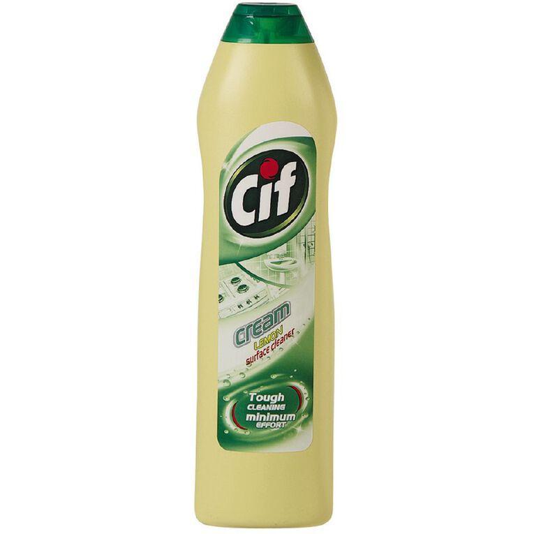 Cif Cream Cleanser Lemon 500ml, , hi-res