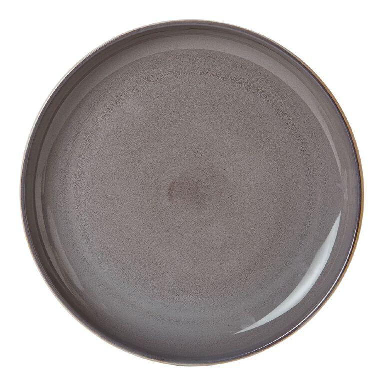 Living & Co Kina Dinner Plate Charcoal, , hi-res