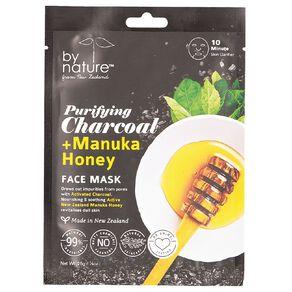 By Nature Charcoal & Manuka Honey Sheet Mask 25g