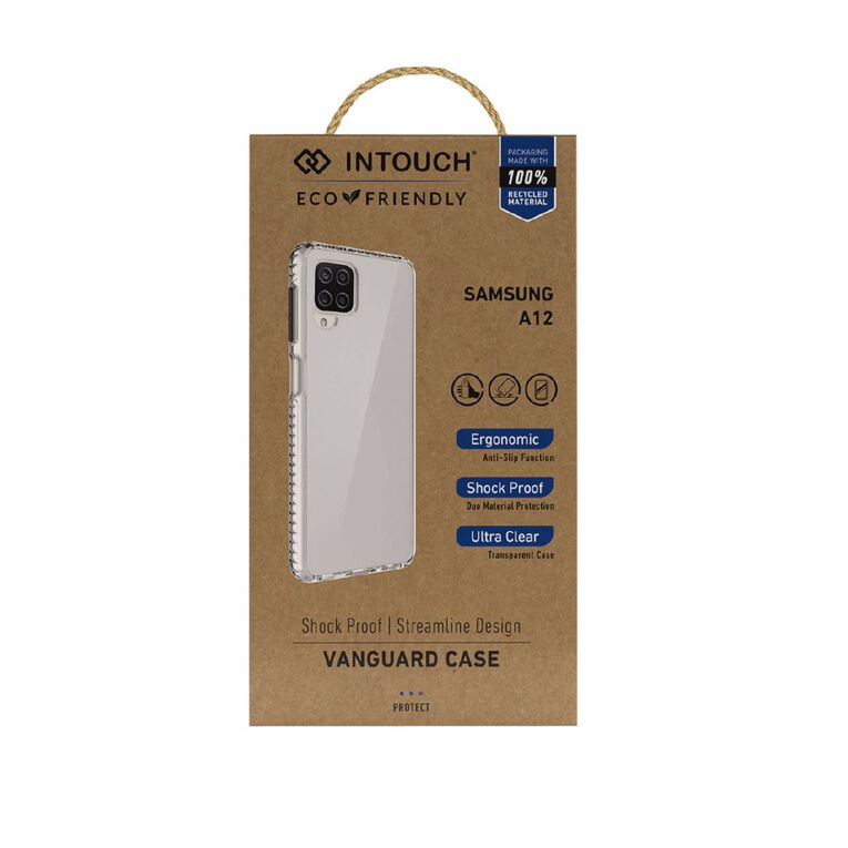 INTOUCH Samsung A12 Vanguard Drop Protection Case Clear, , hi-res