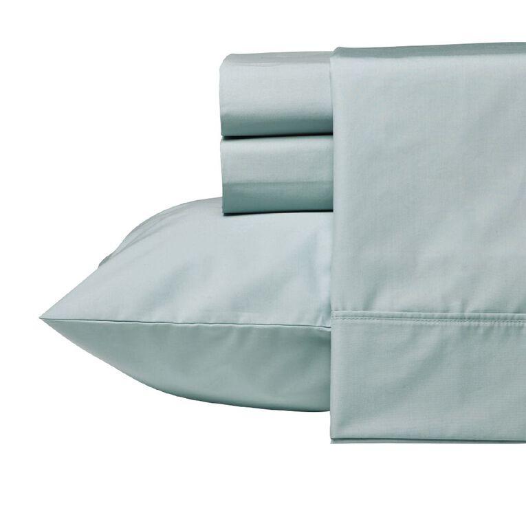Living & Co Sheet Set Cotton 400 Thread Count Blue King, Blue, hi-res
