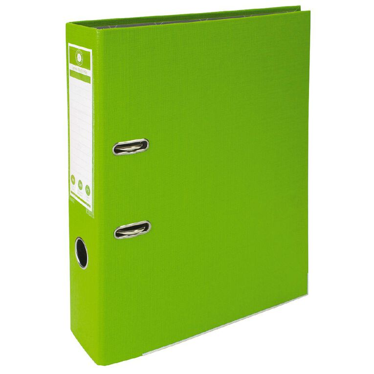 Office Supply Co Lever Arch Green A4, , hi-res