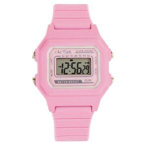 Cactus Kids Digital Watch Pink Retro