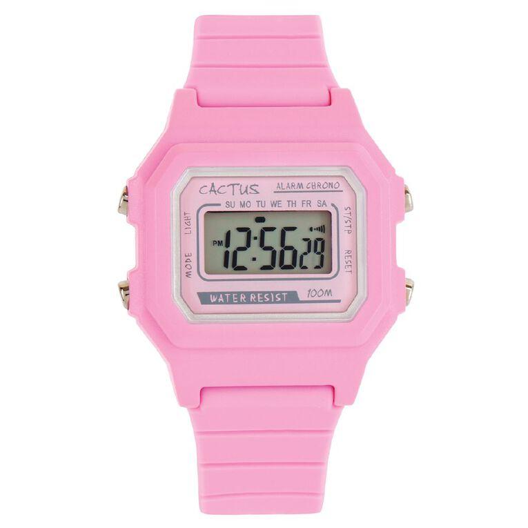 Cactus Kids Digital Watch Pink Retro, , hi-res