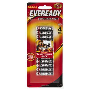 Eveready Super Heavy Duty Batteries AAA 24 Pack