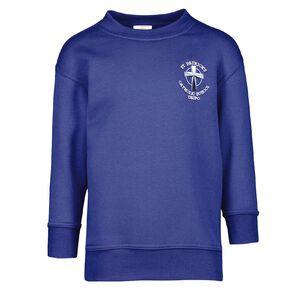 Schooltex St Patrick's Taupo Crew Neck Sweatshirt with Embroidery