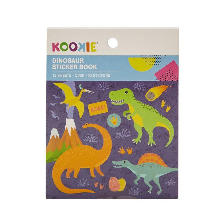 Kookie Mini Sticker Book 12 Sheets Dinosaurs, , hi-res