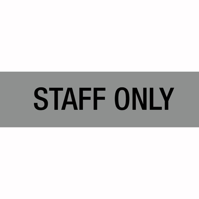 APLI Self Adhesive Staff Only Silver, , hi-res