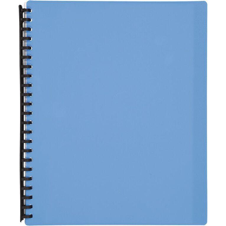 WS Clear Book Refillable 20 Leaf Blue A4, , hi-res