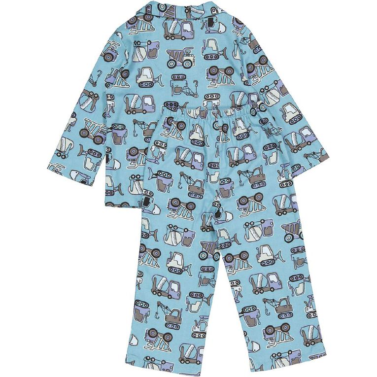 H&H Kids' Flannelette Pyjamas, Turquoise, hi-res