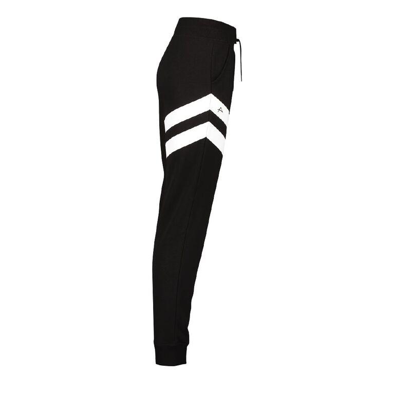 Active Intent Women's Printed Trackpants, Black, hi-res