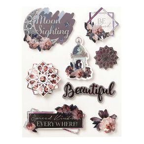 Uniti Floral Nights Dimensional Stickers