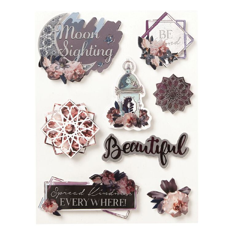 Uniti Floral Nights Dimensional Stickers, , hi-res image number null