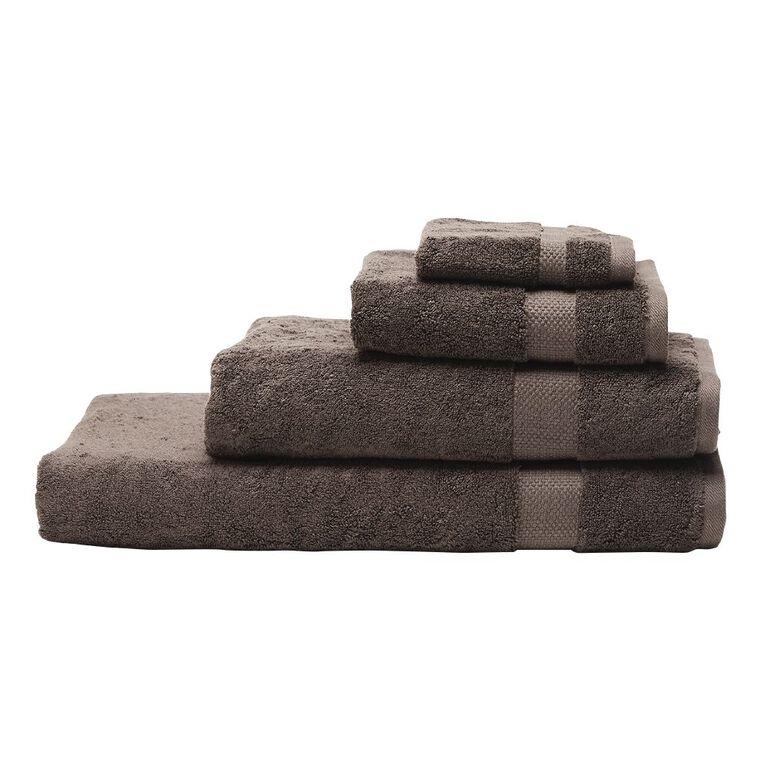 Living & Co Naturals Bath Towel Bamboo Blend Grey 68cm x 137cm, Grey, hi-res
