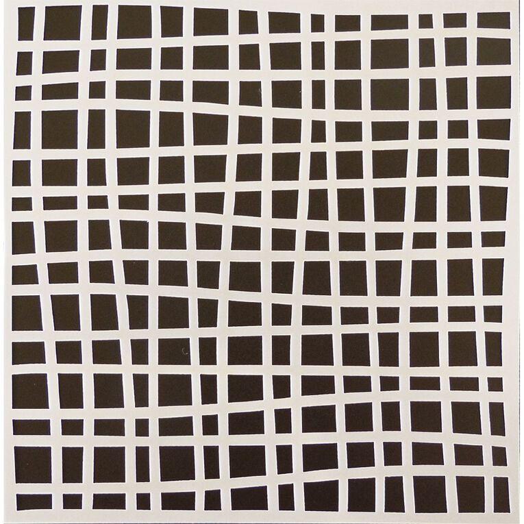 Fivestar Stencil Lines 15cm x 15cm, , hi-res