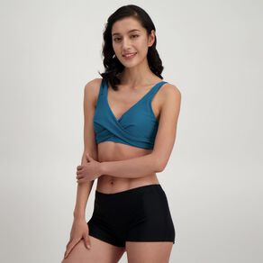 H&H Women's Swim Wrap Front Full Cup Bikini Top