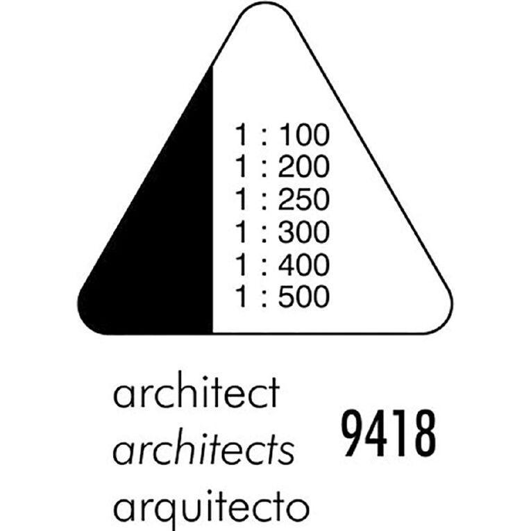 Standardgraph 9418 Tri Scale Ruler Architect Clear, , hi-res