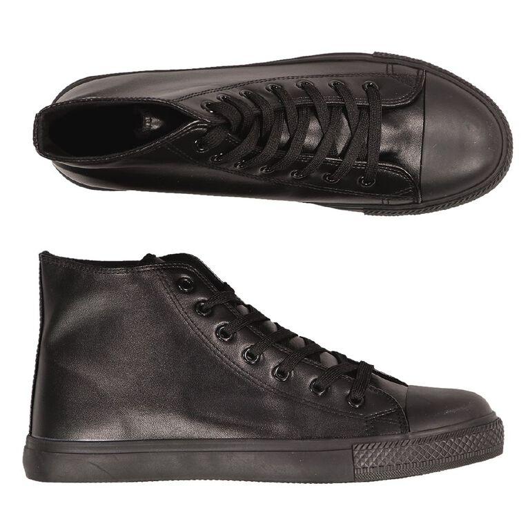 H&H Polly High PU Shoes, Black, hi-res