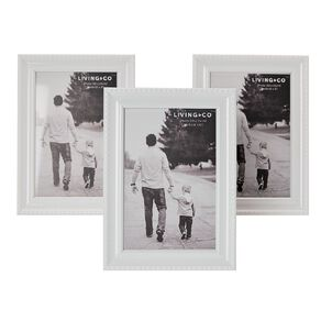 Living & Co Picture Frame With Easl & S Hanger 3pk 4in x 6in