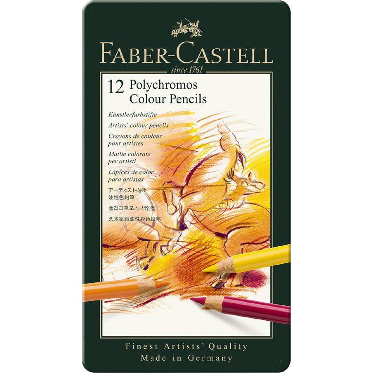Faber-Castell Polychromos Colour Pencils - Tin of 12, , hi-res