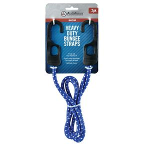 Autohaus Heavy Duty Bungee Strap 90cm Blue 2 Pack
