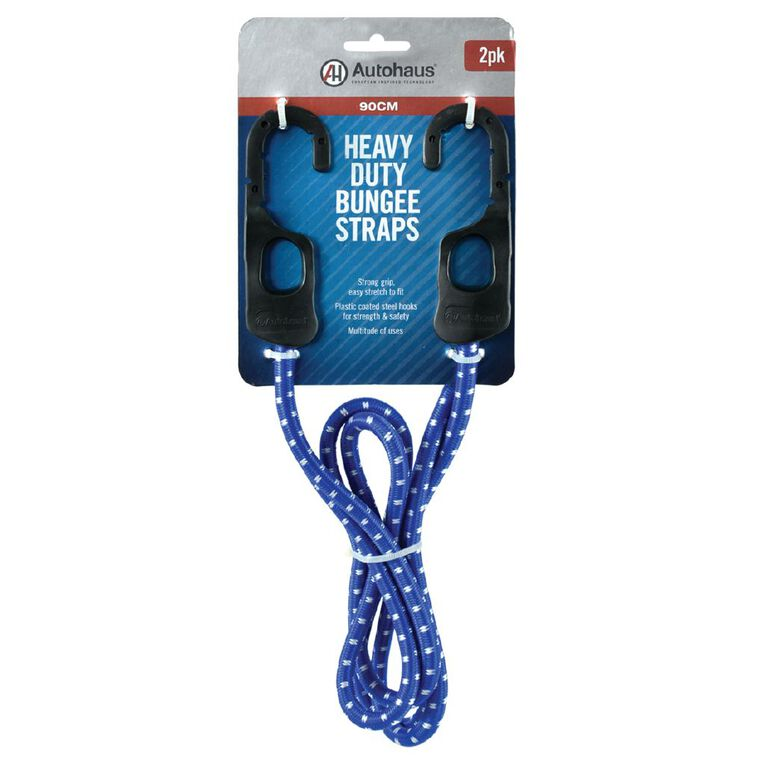 Autohaus Heavy Duty Bungee Strap 90cm Blue 2 Pack, , hi-res