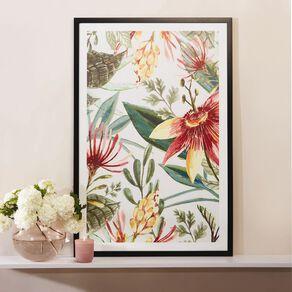 Living & Co Autumnal Floral Framed Print Black 60 x 90 x 2.3cm
