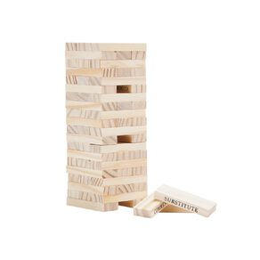Party Inc Wooden Block Tower with Action Slogans 60 Pieces 60g