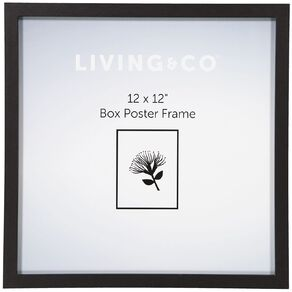 Living & Co Box Poster Frame 12in x 12in