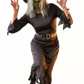 Scarehouse Halloween Witch Costume with Hat & Belt Adult