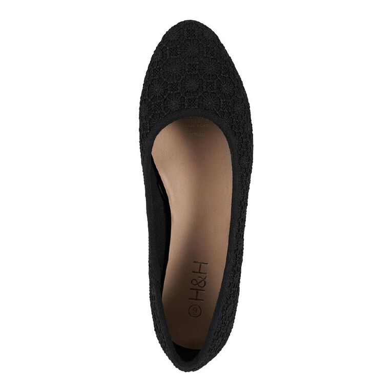 H&H Women's Tatum Ballet Shoes, Black, hi-res
