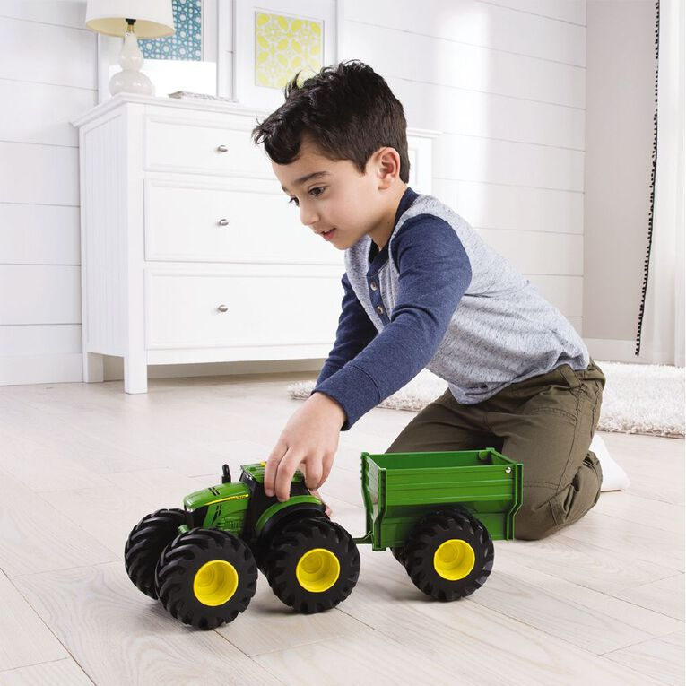 John Deere Monster Treads Tractor & Wagon Set, , hi-res