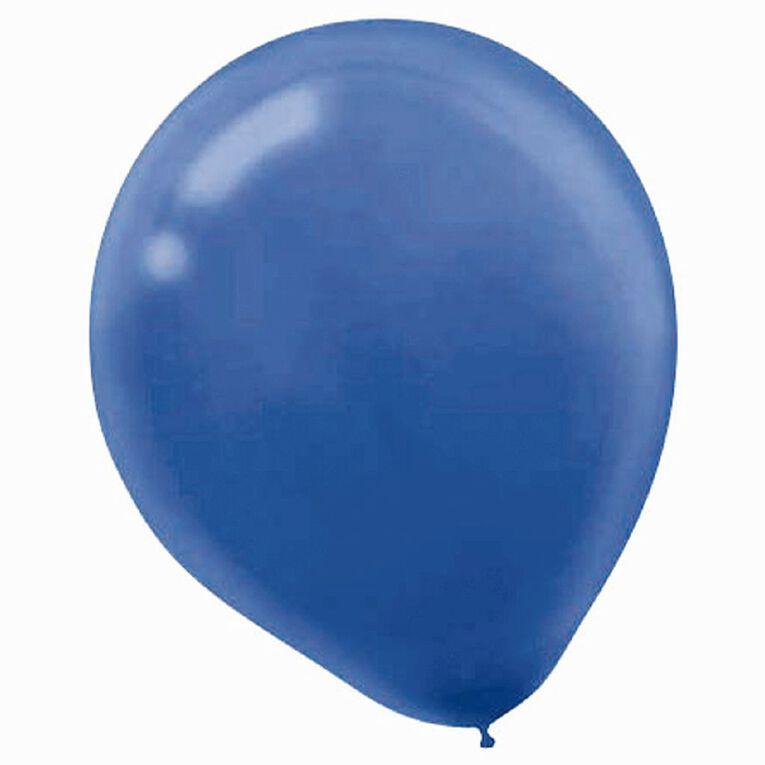 Amscan Bright Royal Blue Latex Balloons 30cm 15 Pack, , hi-res