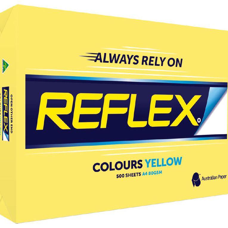 Reflex Paper 80gsm Tints 500 Pack Yellow A4, , hi-res