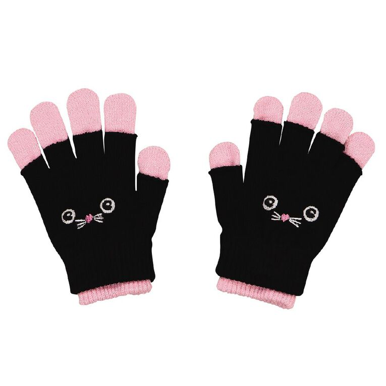 Young Original Kids' Double Layer Gloves, Black, hi-res