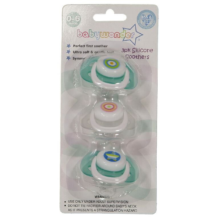 Baby Wonder Silicone Soother Cherry Baglet 0-6m 3 Pack, , hi-res
