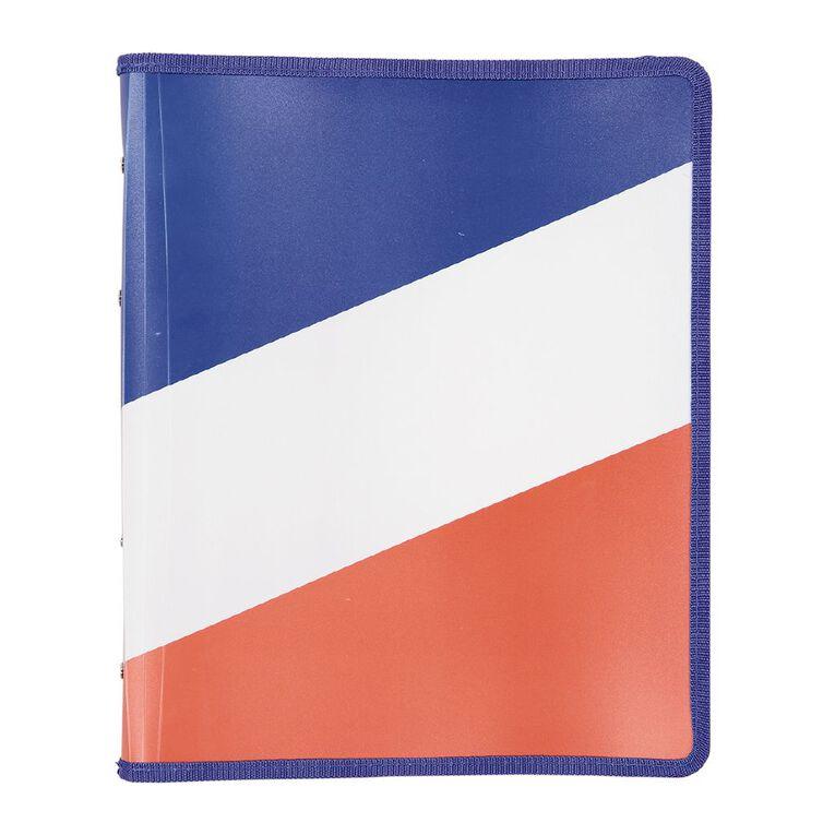 Uniti Geo Folder Zipped Multi-Coloured A4, , hi-res