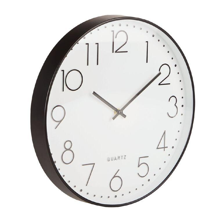 Living & Co Larsson Clock Black 35cm, , hi-res