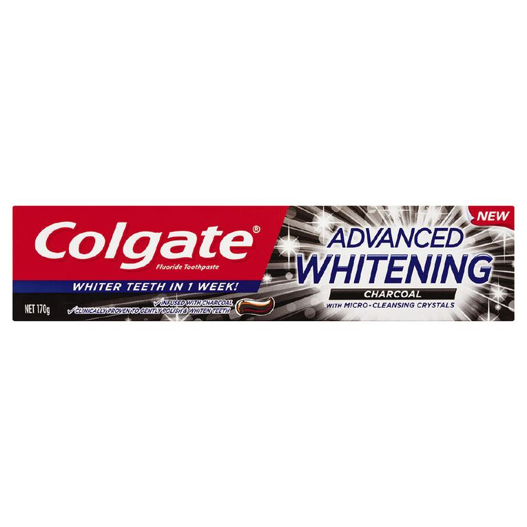 Colgate Advanced Whitening Charcoal Toothpaste 170g, , hi-res