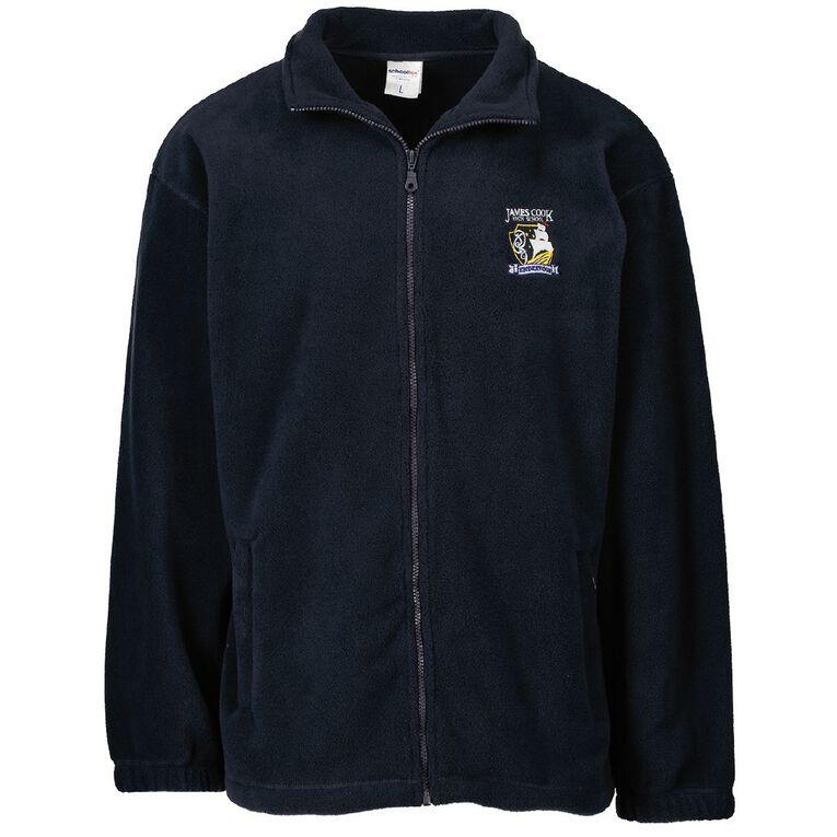 Schooltex James Cook Polar Fleece Jacket with Emb, Navy, hi-res