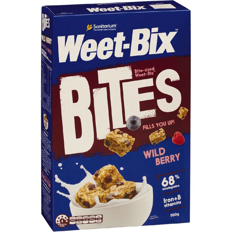 Sanitarium Weet-Bix Bites Berry 500g, , hi-res