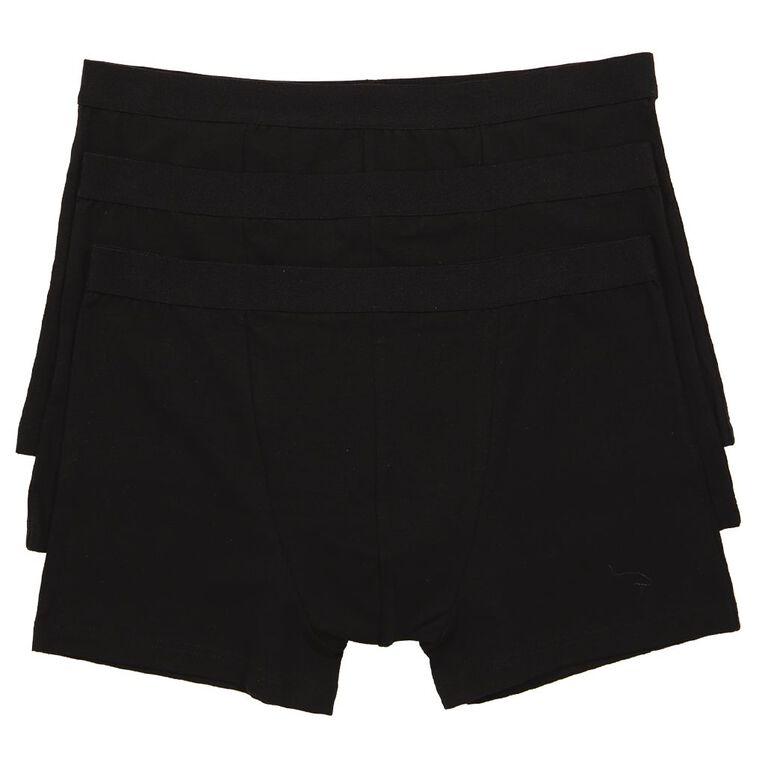 H&H Men's Trunks 3 Pack, Black, hi-res