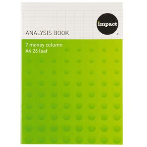 WS Analysis Book Limp 7 Column Blue A4