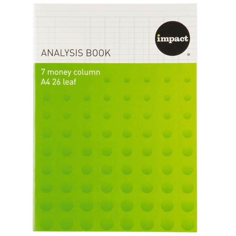 WS Analysis Book Limp 7 Column Blue A4, , hi-res