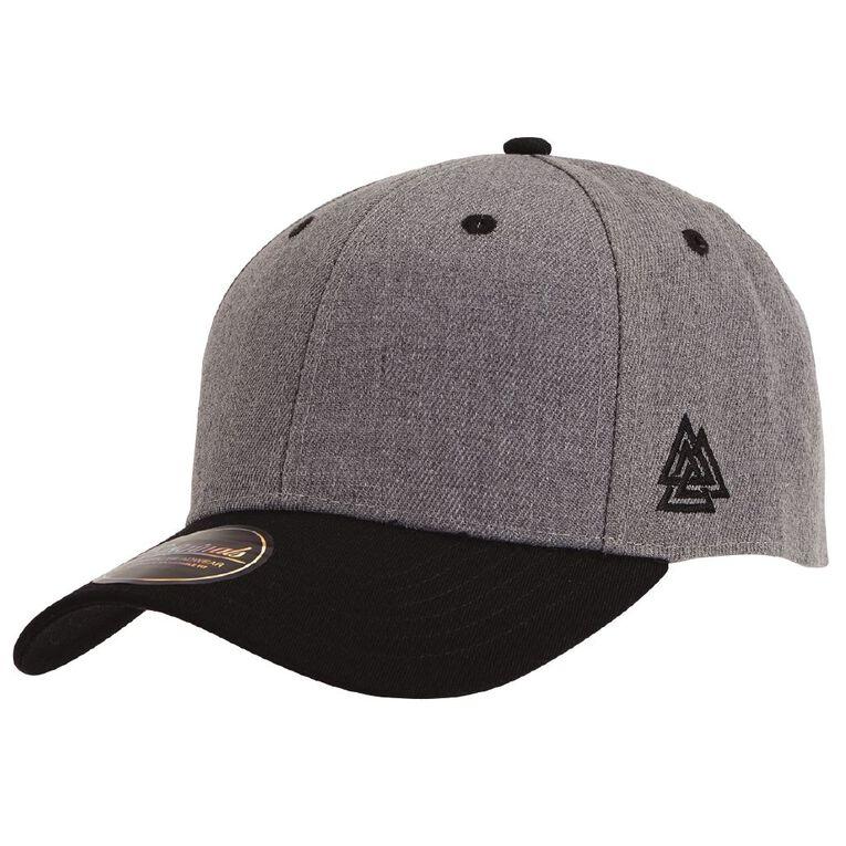 H&H Men's Baseball Cap, Charcoal/Marle, hi-res