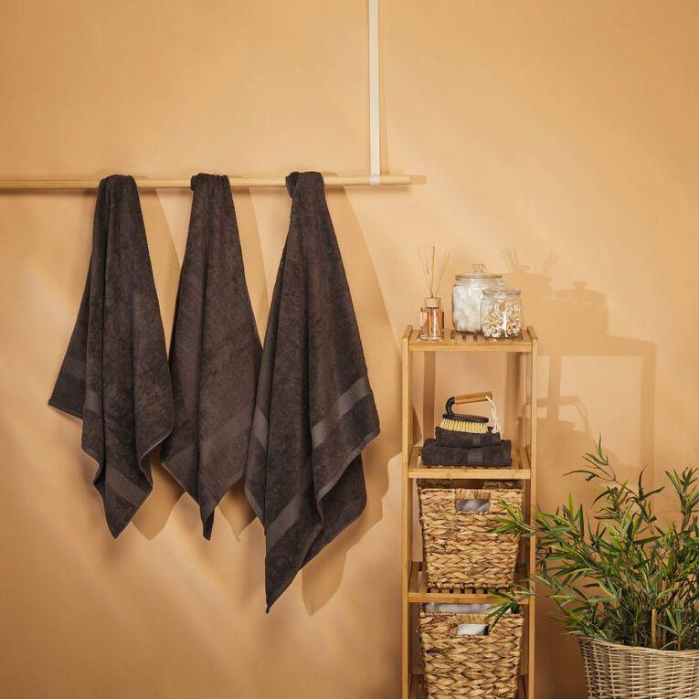 Living & Co Naturals Spa Towel Bamboo Blend Grey 90cm x 150cm, Grey, hi-res