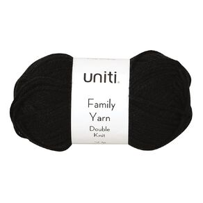 Uniti Yarn Family Double Knit Black 50g